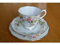 "Royal Albert ""Moss Rose"" Fine Bone China Tea Services (2 Sets 46 Pieces) - MASSIVELY REDUCED PRICE"