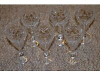 Lovely Vintage set of 6 Liquoir Aperitif Cordial Glasses