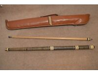 Pool Cue and case,Full length is 1422 (56 inches) length of the removable middle is 204 (8 inches)