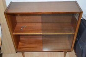 Retro 50's Wooden Bookcase / Display Cabinet 0450P