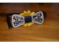 new bow tie wooden ellegant