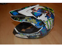Monster Stickered MX helmet / Lid size small 56cm Motorbike motorcross