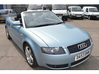 2003 Audi A4 CONVERTIBLE N GOOD CONDITION MOT UNTIL JULY 2018