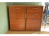 2 well made office drawer units