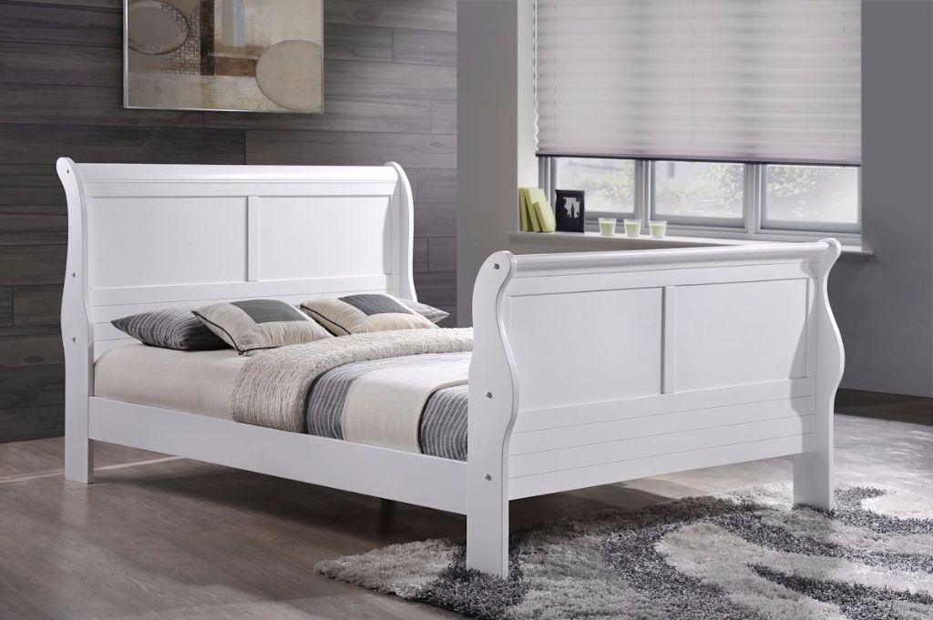 Birlea Caux Extra Long King Size White Sleigh Bed Frame Rrp 349