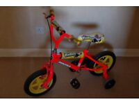 Kids Fun Race Magna BMX bike with stabilisers.