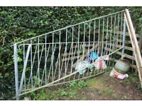 Railings - galvanised - suitable for garden steps - 2 x 2.1m long x 1m high -