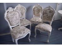Shabby Chic Rococo French Louis Dining Chair Velvet Hallway Bedroom