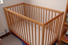 Cot bed for sale for with full coconut mattress