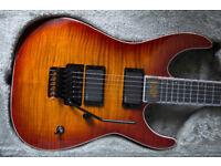 ESP E-II M-II - Maple Top (Amber Cherry Sunburst) - MINT - Guitar