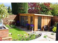 BESPOKE GARDEN OFFICE'S BUILT TO YOUR DESIGN ON SITE ANY SHAPE OR SIZE.