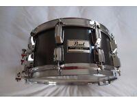 Pearl B-714DX Super Gripper series brass snare drum - Japan - '80s - Custom plated