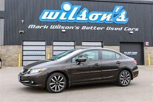 2014 Honda Civic $69/WK, 4.74% ZERO DOWN! TOURING! NAVIGATION! L
