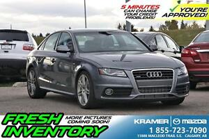 2012 Audi A4 Premium S-Line w/6-Speed Manual