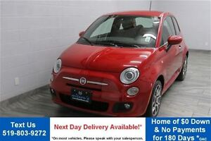 2013 Fiat 500 SPORT w/ LEATHER! ALLOYS! POWER PACKAGE! CRUISE CO