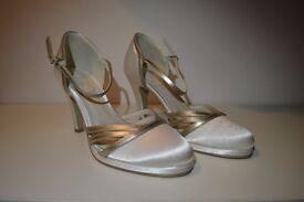 Ivory Satin Size 5 Bridal Shoes