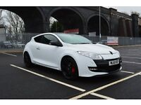 "Renault Megane RS 250 White Lux Pack 19"" Gloss Black Steel Alloy Wheels TomTom Sat Nav MOT 30/09/17"