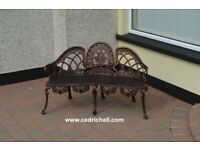 Bronze 3-seater Garden Chair
