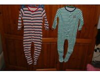 3 NEW BABY BOY SLEEP SUITS. SIZE 18-24 MONTHS. COLLECTION FROM WHITBY OR CAN POST. CHECK THEM OUT.
