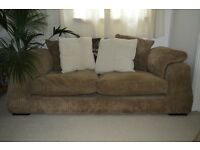 2-3 seater brown cord sofa quick sale £40