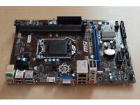 Intel Core i5-4690k 3.5GHz LGA1150 CPU+MSI H81M-E33 MOTHERBOARD