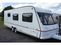 FLEETWOOD HERITAGE 600 EB 4 BERTH- TWIN AXLE- SIDE DINETTE-CENTRAL HEATING