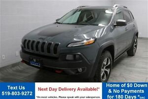 2014 Jeep Cherokee TRAILHAWK 2.4L 4WD w/ NAVIGATION! PARTIAL LEA