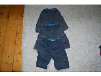 Blue Cargo Shorts - 7-8 years x 3
