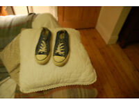 Converse All Star denim style lace up shoes size 5
