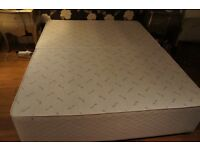 King size divan base with 4 drawers 153 cm x 200cm long. In two parts that clip together