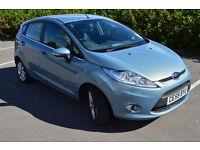 2010[59] ford fiesta zetec 1.2cc petrol, 5 door ,43772 miles 4 owner ,light blue ,nice clean car