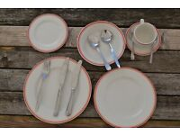 china plates and cutlery