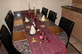 Black Granite Kitchen Worktops Inc Table & Island