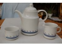 Bilton's Coloroll Kilncraft Coffee Pot, Creamer and Sugar Bowl in As New Condition