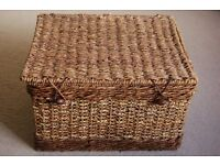 Wicker Hamper Basket.