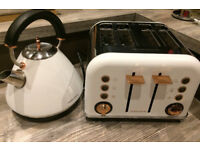 Morphy Richards Kettle and Toaster - Rose Gold Accents Range