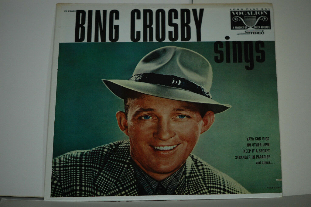 Bing Crosby Sings Album. Record in excellent condition. Sleeve in quite good condition.