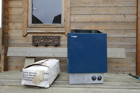 Sauna heater, Harvia electric 8Kw unused with sauna stones