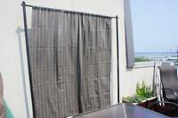 Outdoor privacy wind screen panel