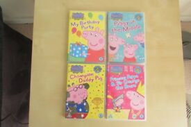 4 Peppa pig DVDs