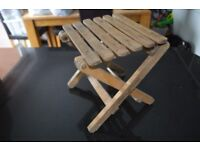Viantage wooden fishing stool