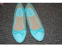 Womens Turquoise falt shoes