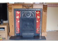 Gallery Tulip Cast Iron Gas fire with Solid Pine surround