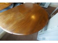 Ercol Blonde Circular Drop Leaf Table model 384