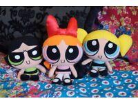 Vintage PowerPuff Girl Plush Collection Cartoon Network TrendMasters 1999