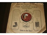 Vinyl piece, His master's voice.