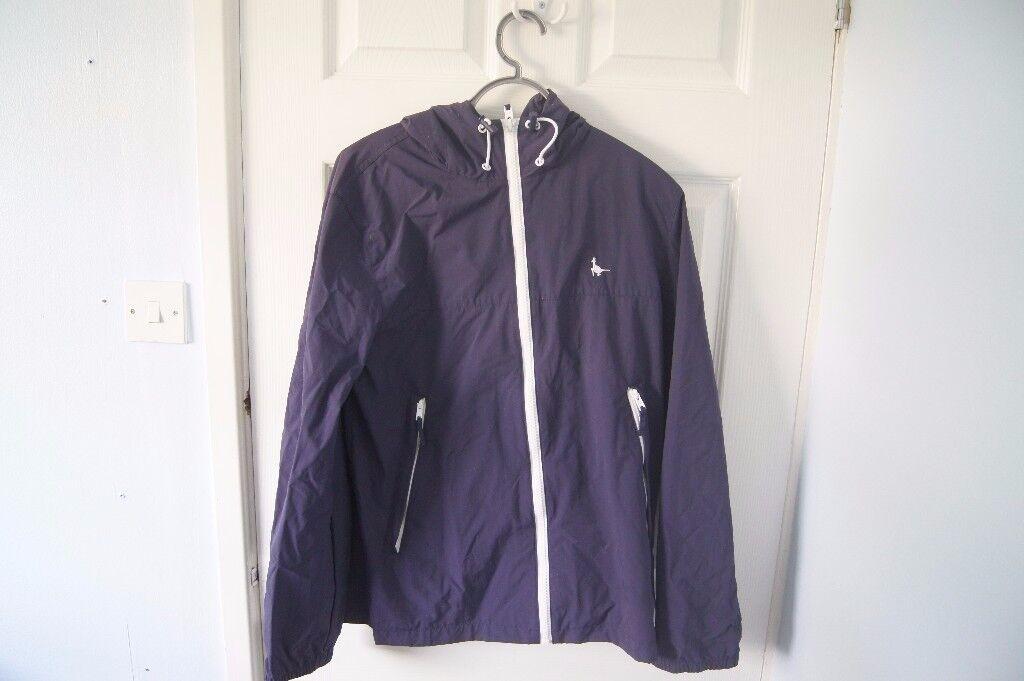 Jack Wills Navy Rain Jacket.