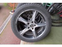 """KOSEI 17"""" ALLOY WHEELS WITH TYRES 5X110 VAUXHALL CORSA ASTRA VECTRA ZAFIRA SAAB FORD CONNECT"""
