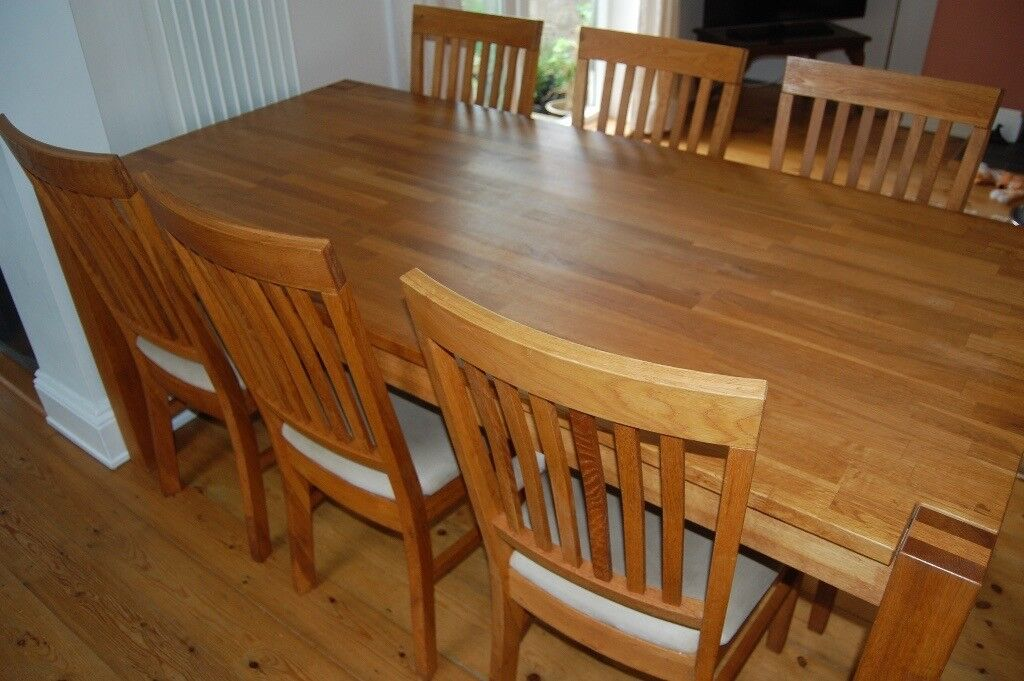 Oak Dining Table And 6 Chairs Originally Bought From Fairway Furniture