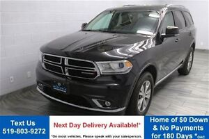 2015 Dodge Durango LIMITED V6 AWD w/ NAVIGATION! LEATHER! REVERS